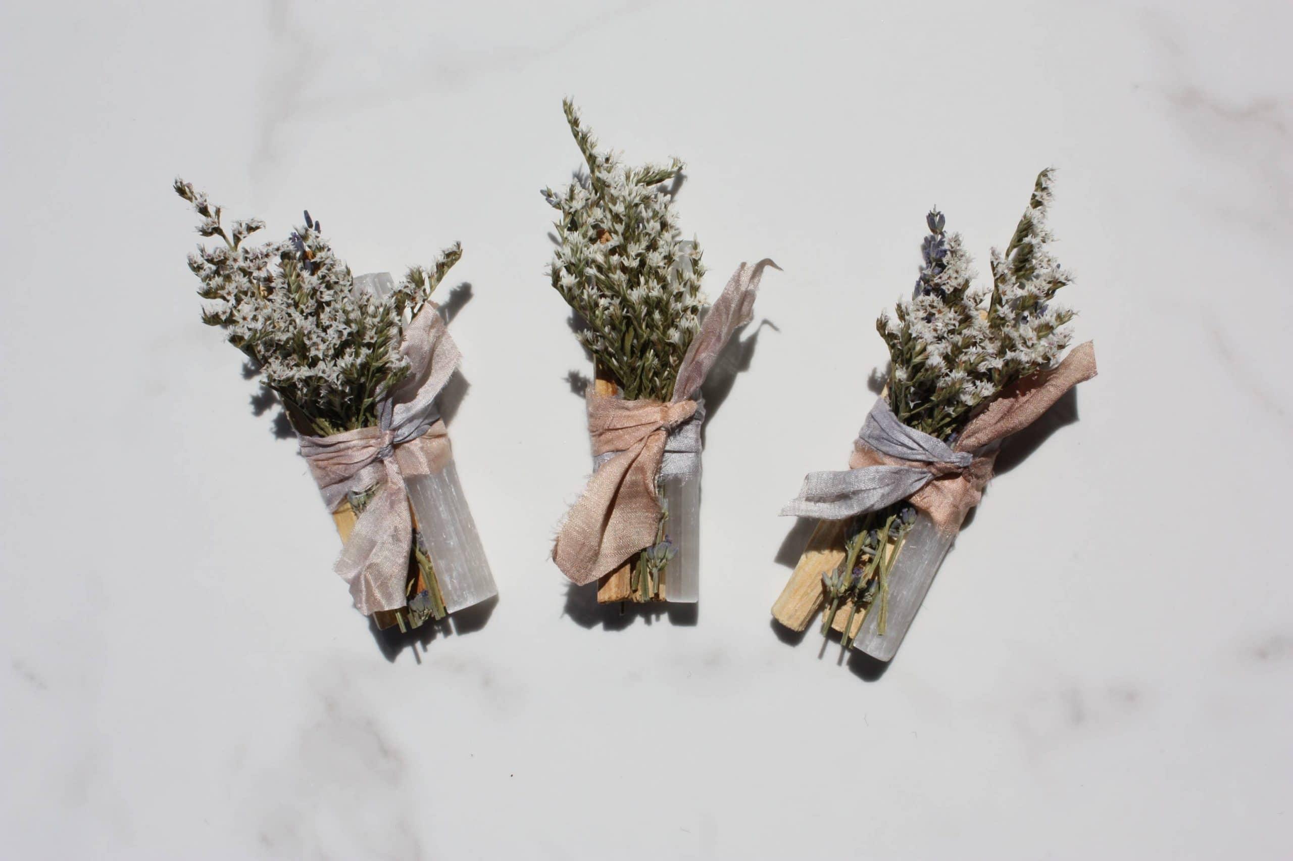Bouquet De Palo Santo Encens Et Sélénite Blanche
